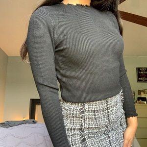 Ribbed long sleeve shirt